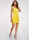 Платье-майка трикотажное облегающее oodji #SECTION_NAME# (желтый), 14001210/48152/5700N - вид 6