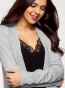 Кардиган удлиненный без застежки oodji для женщины (серый), 63212574-1/45641/2001M