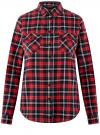 Рубашка клетчатая с нагрудными карманами oodji #SECTION_NAME# (красный), 13L00001-2/48869/4579C
