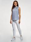Рубашка хлопковая с рюшами oodji #SECTION_NAME# (разноцветный), 14911013-2/45387/1075S - вид 6