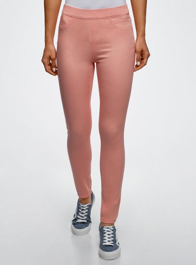 Джинсы-легинсы на эластичном поясе oodji для женщины (розовый), 12104043-7B/46261/5400N
