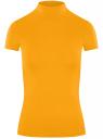 Водолазка приталенная с коротким рукавом oodji для женщины (желтый), 15E11023/49998/5200N