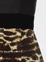 Платье двухслойное с асимметричным низом oodji для женщины (черный), 11902119-2/31266/2933A