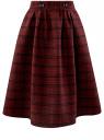 Юбка миди из плотной ткани с карманами oodji для женщины (красный), 11600433-1/47262/2945C