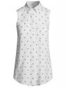 Топ вискозный с нагрудным карманом oodji для женщины (белый), 11411108B/26346/1079Q