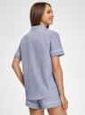 Рубашка домашняя из хлопка oodji #SECTION_NAME# (синий), 59808021/49806/7510S - вид 3