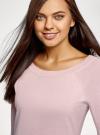 Джемпер базовый с круглым вырезом oodji для женщины (розовый), 63812571-1B/46192/4010M - вид 4