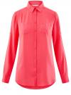 Блузка с нагрудными карманами и регулировкой длины рукава oodji #SECTION_NAME# (розовый), 11400355-3B/14897/4D00N