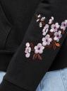 Толстовка хлопковая с вышивкой oodji #SECTION_NAME# (черный), 16901079-12/46173/2919P - вид 5