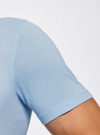 Футболка хлопковая с принтом oodji #SECTION_NAME# (синий), 5L611034I/44135N/7075P - вид 5