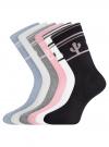 Комплект высоких носков (6 пар) oodji #SECTION_NAME# (разноцветный), 57102902T6/47469/31 - вид 2