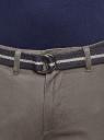 Брюки-чиносы хлопковые oodji для мужчины (серый), 2B150028M/25735N/2300N