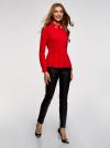 Блузка с баской и декором на воротнике  oodji #SECTION_NAME# (красный), 13K00001-2B/42083/4500N - вид 6