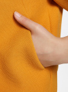 Жакет свободного силуэта на крючках oodji #SECTION_NAME# (оранжевый), 11200253-2/42054/5200N - вид 5