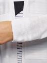 Кардиган удлиненный без застежки oodji #SECTION_NAME# (белый), 63212598/48114/1000N - вид 5