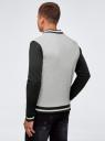 Куртка-бомбер на кнопках oodji #SECTION_NAME# (серый), 5L912040M/48847N/2329P - вид 3