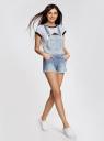 Комбинезон джинсовый с модными потертостями oodji #SECTION_NAME# (синий), 13109058/42559/7000W - вид 6