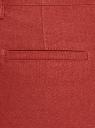 Брюки зауженные с ремнем oodji для женщины (красный), 11706205/16009/4500N