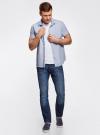 Рубашка приталенная с нагрудным карманом oodji #SECTION_NAME# (синий), 3L210047M/44425N/7810G - вид 6