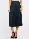 Юбка макси плиссированная oodji для женщины (синий), 21606020/45879/2975G