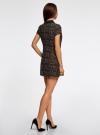Платье мини с коротким рукавом oodji #SECTION_NAME# (бежевый), 11902153-1/45079/3329A - вид 3