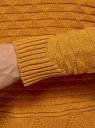 Джемпер с геометрическим узором и широкой резинкой oodji #SECTION_NAME# (оранжевый), 63807299/31644/5200N - вид 5