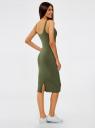 Платье-майка трикотажное oodji для женщины (зеленый), 14015007-2B/47420/6900N