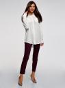 Блузка с нагрудными карманами и регулировкой длины рукава oodji #SECTION_NAME# (белый), 11400355-8B/48458/1200N - вид 6