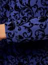 Свитшот с принтом из флока oodji для женщины (синий), 14801043-1/45996/7929E