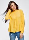 Блузка вискозная А-образного силуэта oodji #SECTION_NAME# (желтый), 21411113B/26346/5200N - вид 2
