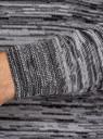Джемпер меланжевый с круглым вырезом oodji для мужчины (черный), 4L112159M/46230N/2920M