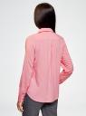 Блузка базовая из вискозы oodji #SECTION_NAME# (розовый), 11411136B/26346/4100N - вид 3