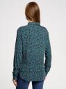 Блузка принтованная из вискозы oodji для женщины (бирюзовый), 11411087/43606/7335E