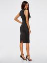 Платье облегающего силуэта с воротником-стойкой oodji для женщины (черный), 14005138-3B/46943/2912D