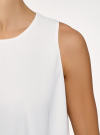 Топ двуслойный из струящейся ткани oodji #SECTION_NAME# (белый), 14911019/46796/1200N - вид 5