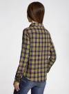 Рубашка в клетку с карманами oodji #SECTION_NAME# (зеленый), 11400433-1/43223/7952C - вид 3