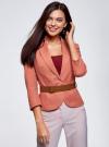 Жакет льняной с широким ремнем oodji #SECTION_NAME# (розовый), 21202076-2/45503/3300N - вид 2