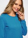Свитшот из фактурной ткани oodji для женщины (синий), 24801010-6/46005/7500N