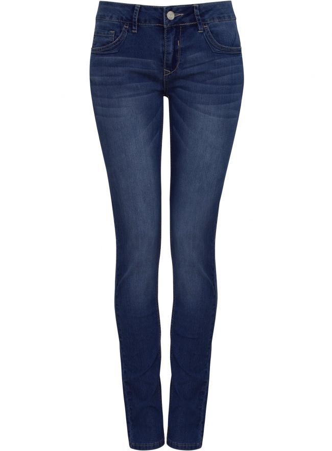 Джинсы slim fit базовые oodji для женщины (синий), 22103052/24100/7500W