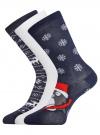 Комплект из трех пар хлопковых носков oodji для женщины (разноцветный), 57102902-4T3/10231/9 - вид 2