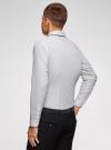 Рубашка хлопковая с контрастной отделкой воротника oodji #SECTION_NAME# (белый), 3B110031M/44425N/1079D - вид 3