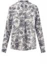 Блузка вискозная А-образного силуэта oodji #SECTION_NAME# (белый), 21411113B/26346/3079O