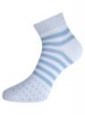 Комплект из шести пар хлопковых носков oodji для женщины (разноцветный), 57102707T6/15430/16