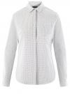 Рубашка хлопковая с нагрудным карманом  oodji #SECTION_NAME# (белый), 13K03013-1/36217/1029D