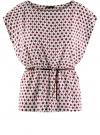 Блузка принтованная из вискозы oodji #SECTION_NAME# (белый), 11400345-2/24681/1249G