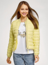 Куртка-бомбер на молнии oodji #SECTION_NAME# (желтый), 10203061-1B/33445/5000N - вид 2
