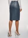 Юбка-карандаш из искусственной кожи oodji для женщины (синий), 28H01002B/45059/7901N