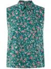 Топ базовый из струящейся ткани oodji для женщины (зеленый), 14911006-2B/43414/6C19F