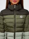 Куртка утепленная на молнии oodji #SECTION_NAME# (зеленый), 10203034-2B/33743/6069B - вид 4