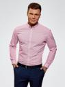 Рубашка принтованная из хлопка oodji #SECTION_NAME# (розовый), 3B110027M/19370N/1045G - вид 2